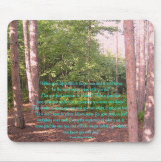 When your life takes a tragic turn Poem Mousepad