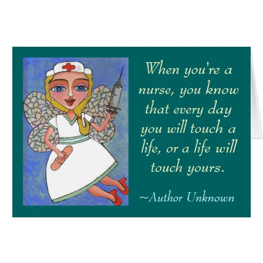 When you're a nurse... - greeting card