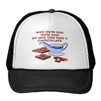When You're Dead You're Dead Until Then Chocolate Cap
