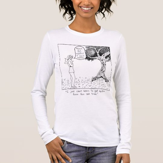 Where are the apples? long sleeve T-Shirt