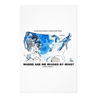 Where Are We Winded By Wind? (Wind Power) Customised Stationery