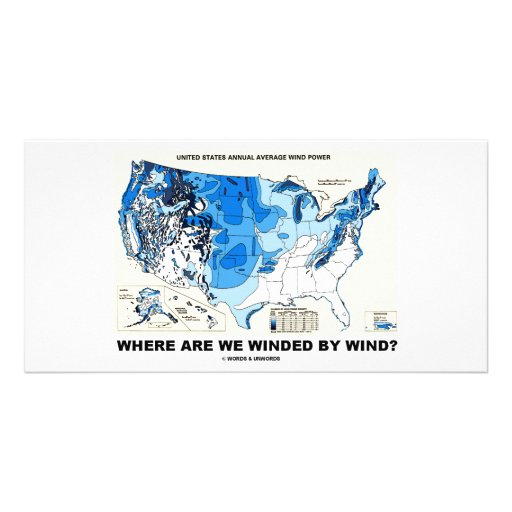 Where Are We Winded By Wind? (Wind Power) Custom Photo Card