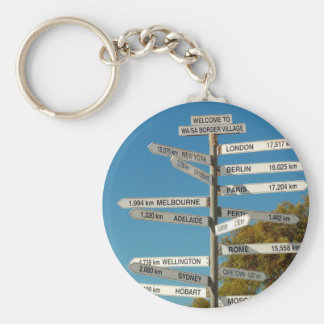 Where are you? basic round button key ring