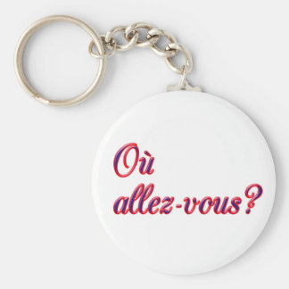 Where Are You Going? Basic Round Button Key Ring