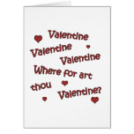 Where Art Thou Valentine? Cards