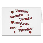 Where Art Thou Valentine? Greeting Cards