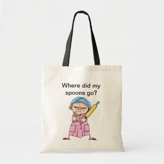 Where did my spoons go? budget tote bag