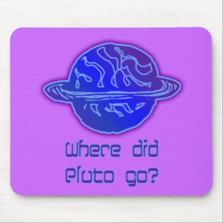 Where Did Pluto Go? Mouse Mat