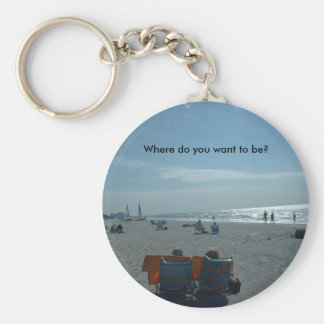 Where do you want to be? key ring
