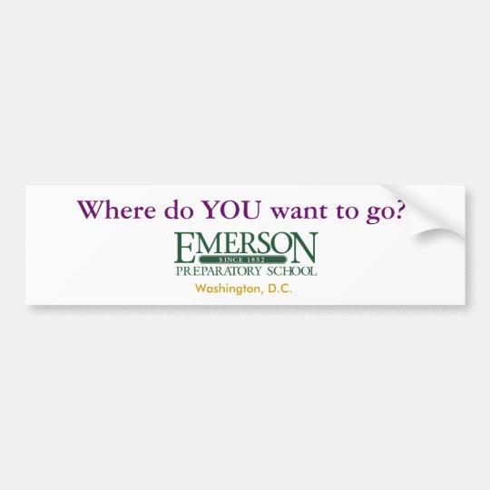 Where do YOU want to go? Bumper Sticker