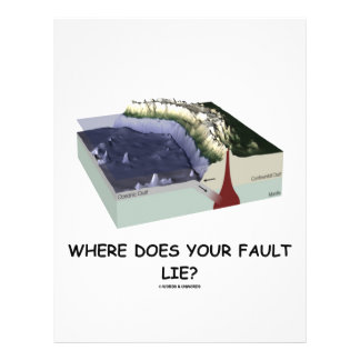 Where Does Your Fault Lie? (Geology Humor) Flyers