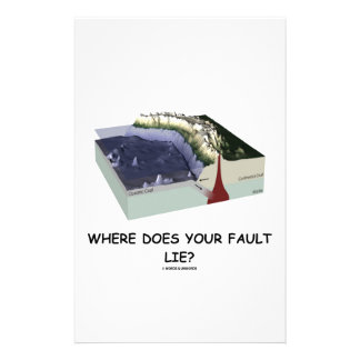 Where Does Your Fault Lie? (Geology Humor) Customized Stationery