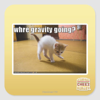 Where gravity going? square sticker