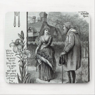Where have you been to my pretty maid? mouse pad