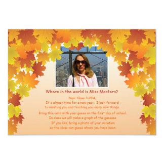 Where In The World Teacher's Photo Icebreaker 13 Cm X 18 Cm Invitation Card