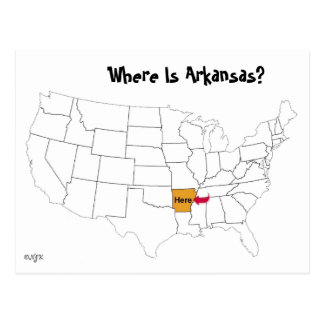 Where Is Arkansas? Postcard