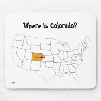 Where Is Colorado? Mouse Mat
