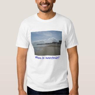 Where is everybody (2 & 3) tee shirts