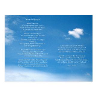Where Is Heaven Poem Postcard
