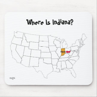 Where Is Indiana? Mouse Mat