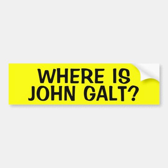 WHERE IS JOHN GALT? BUMPER STICKER