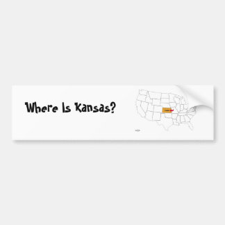 Where Is Kansas? Bumper Sticker