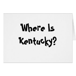 Where Is Kentucky? Note Card