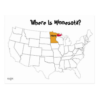 Where Is Minnesota? Postcard