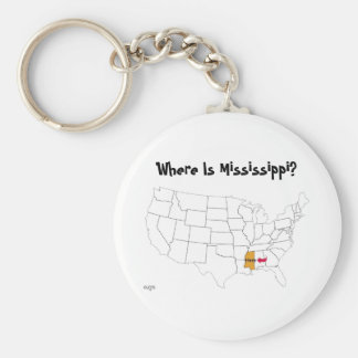 Where Is Mississippi? Key Ring