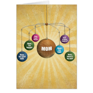 Where Is Mom Mother's Day Greeting Card