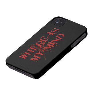 Where Is My Mind - Cracked Glass Red Messy Letters Blackberry Bold Case