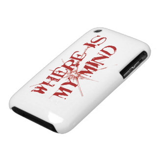 Where Is My Mind - Cracked Glass Red Messy Letters iPhone 3 Case-Mate Case