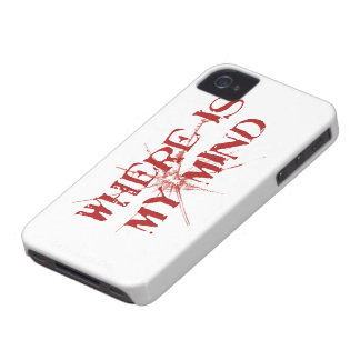 Where Is My Mind - Cracked Glass Red Messy Letters iPhone 4 Case-Mate Cases