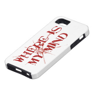 Where Is My Mind - Cracked Glass Red Messy Letters iPhone 5 Cases
