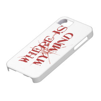 Where Is My Mind - Cracked Glass Red Messy Letters iPhone 5 Covers