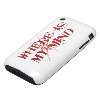 Where Is My Mind - Cracked Glass Red Messy Letters Tough iPhone 3 Covers