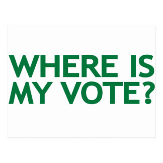 where is my vote (Iran Election) Postcard