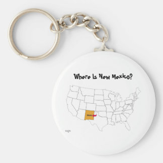 Where Is New Mexico? Key Ring