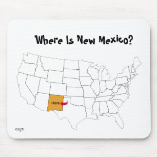Where Is New Mexico? Mouse Mat