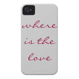 Where is the love grey\red iPhone 4 cover