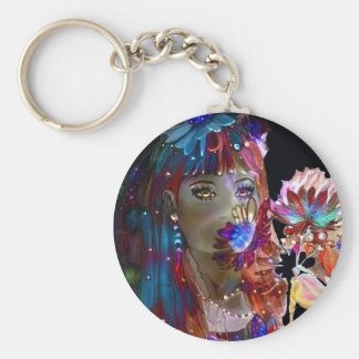 Where MagicFlowers Grow, key-chain. Basic Round Button Key Ring