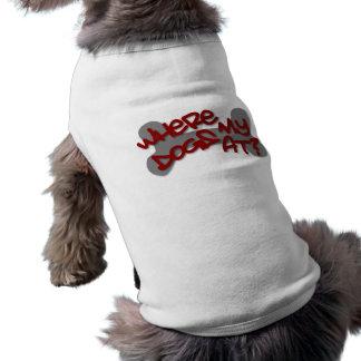 Where my dogs at? sleeveless dog shirt