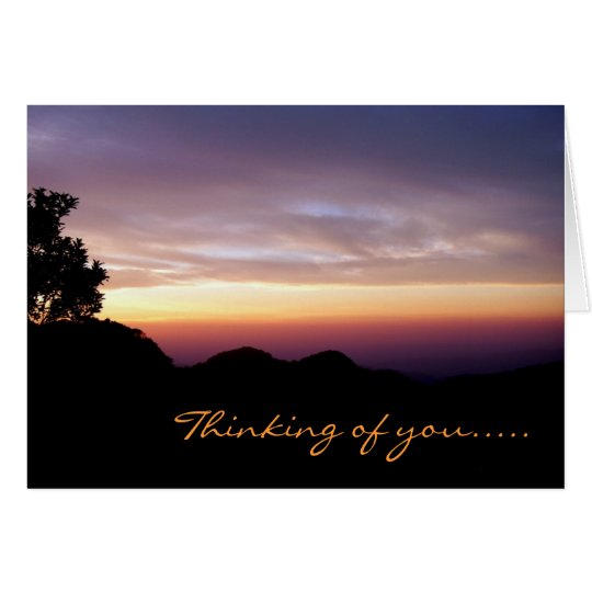 Where My Heart Belongs/Mountain Sunset Silhouette Card