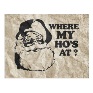 WHERE MY HO S AT 2 POSTCARDS