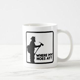 Where My Hoes At Basic White Mug