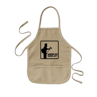 Where My Hoes At Kids Apron