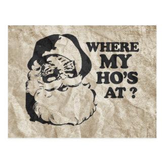 WHERE MY HO'S AT 2 POSTCARD