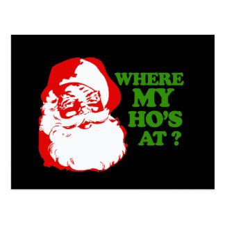 WHERE MY HOS AT? POSTCARD