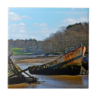 Where old boats go to retire ceramic tile