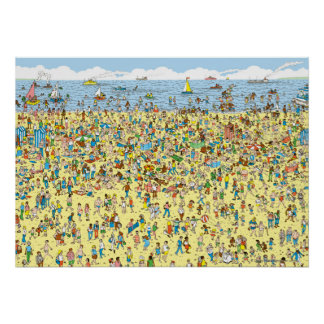 Where s Waldo on the Beach Posters